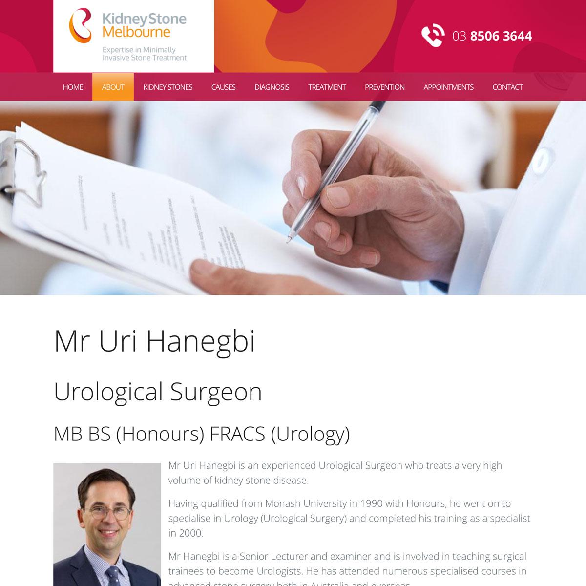 Kidney Stone Melbourne - Mr Uri Hanegbi