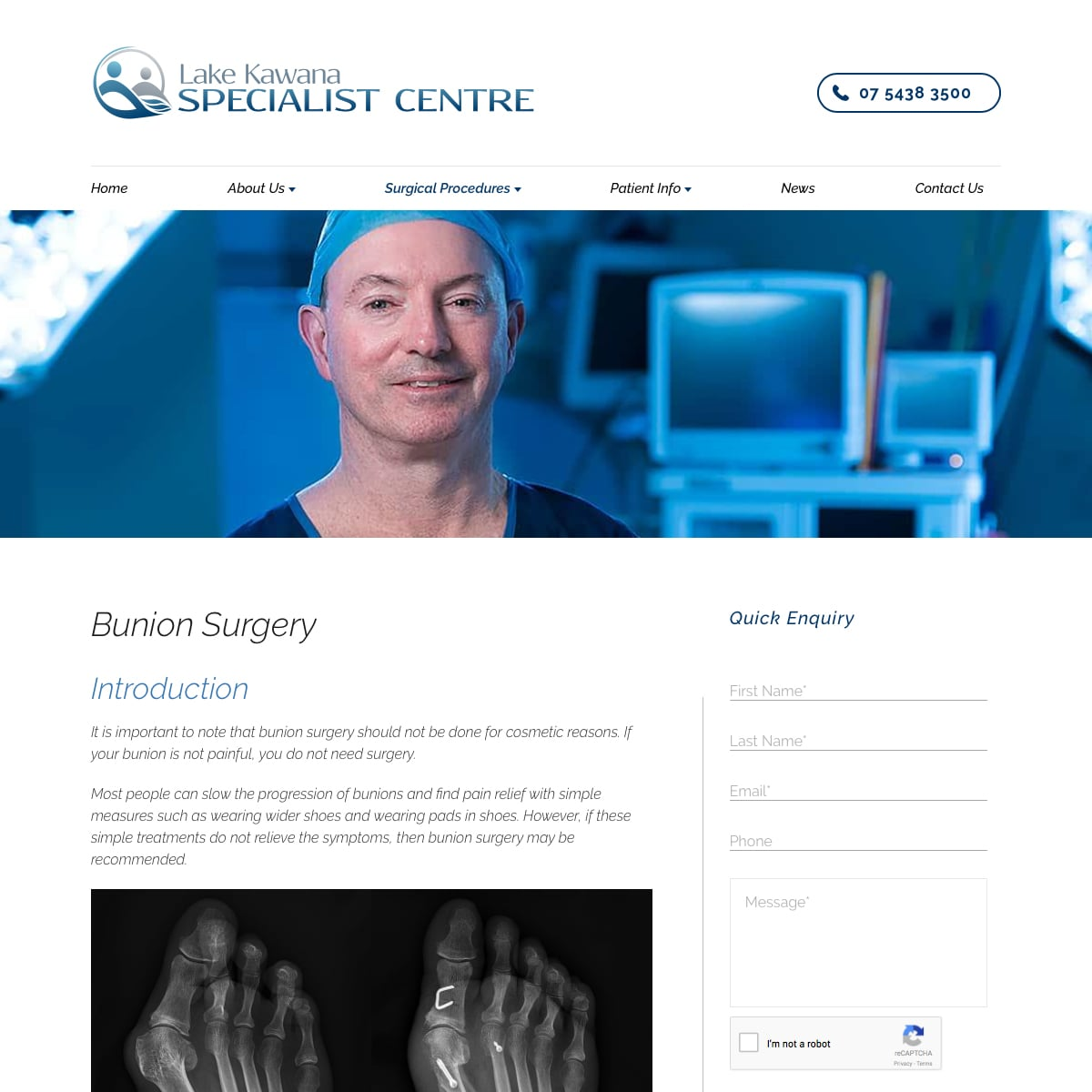 Lake Kawana Specialist Centre - Bunion Surgery