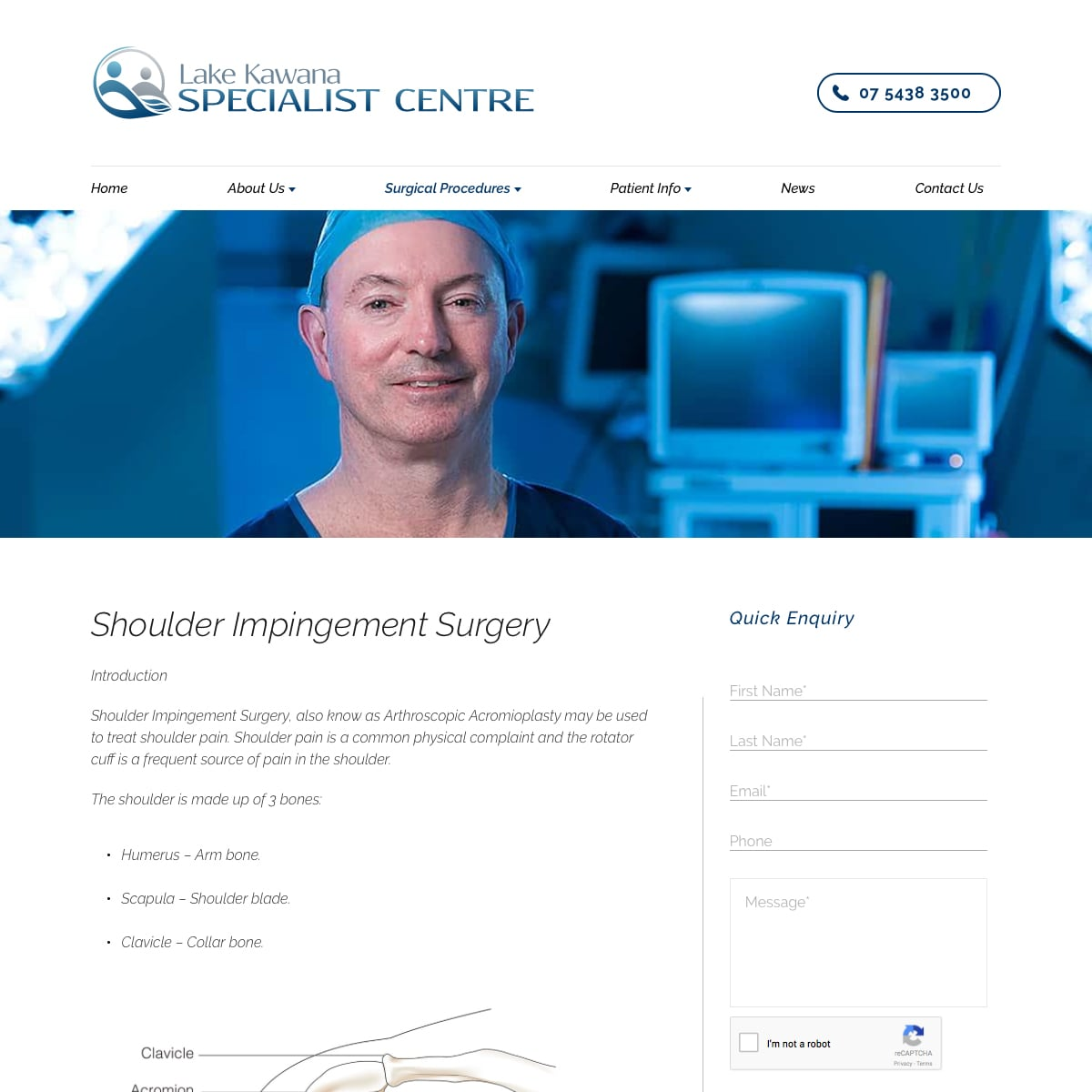 Lake Kawana Specialist Centre - Shoulder Impingement Surgery