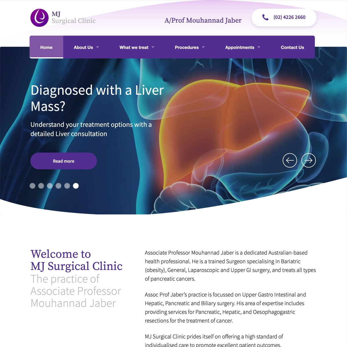 MJ Surgical Clinic - Homepage
