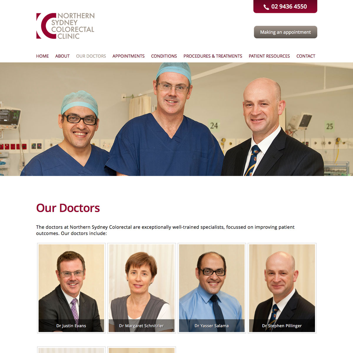 Northern Sydney Colorectal Clinic Our Doctors