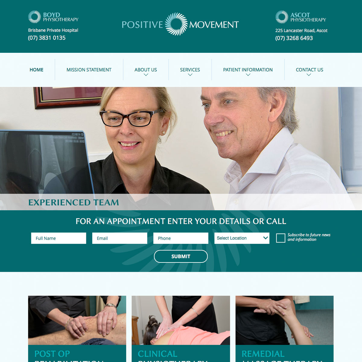 Positive Movement - Home Page