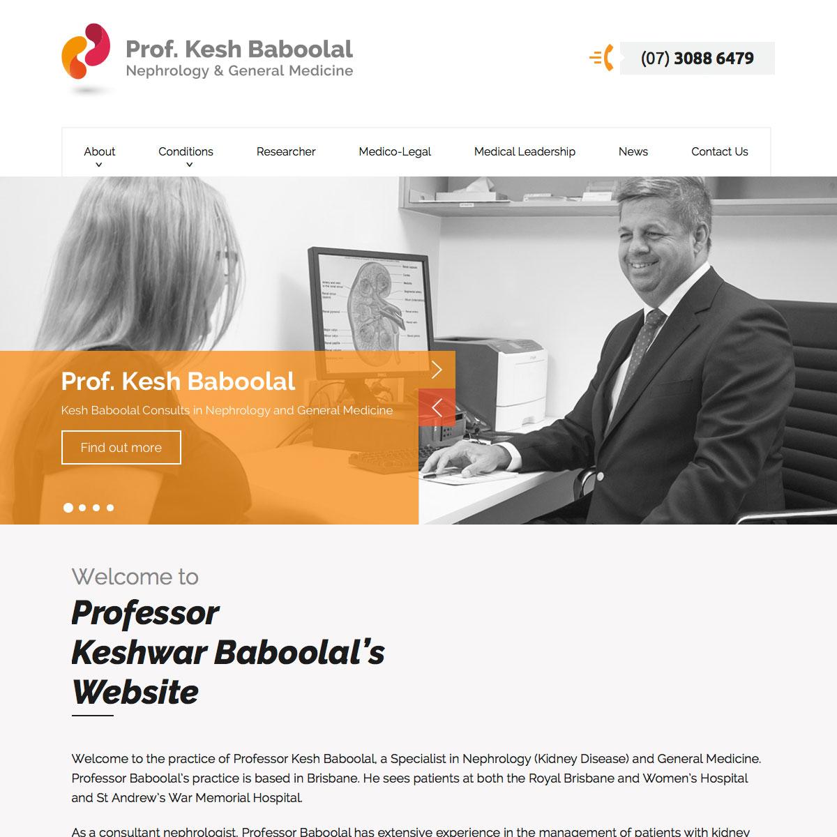Professor Keshwar Baboolal - Home Page