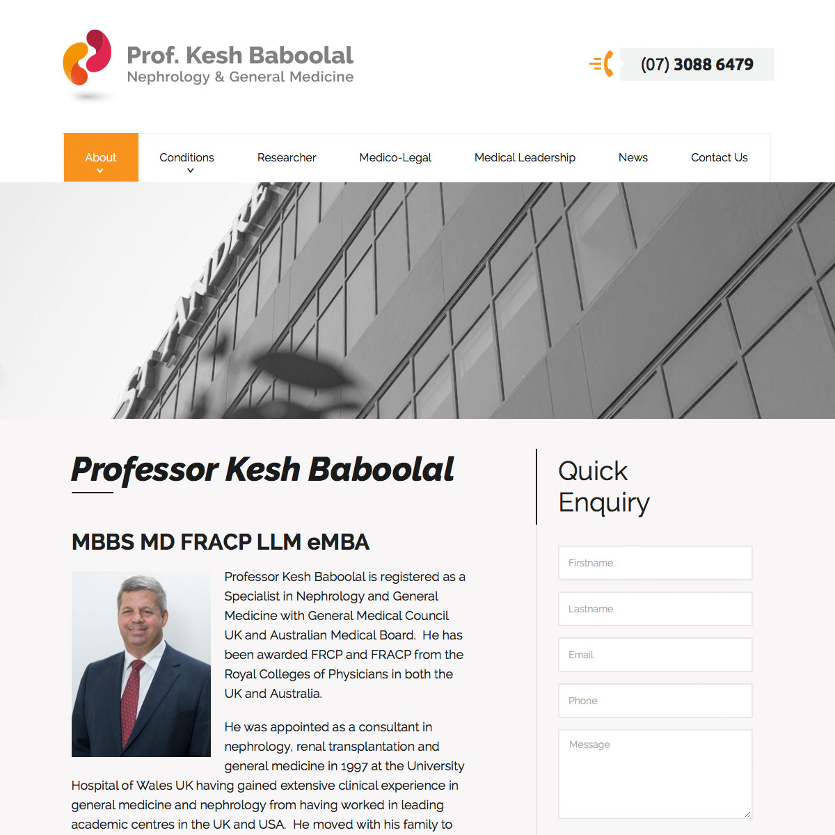 Professor Keshwar Baboolal - BIO