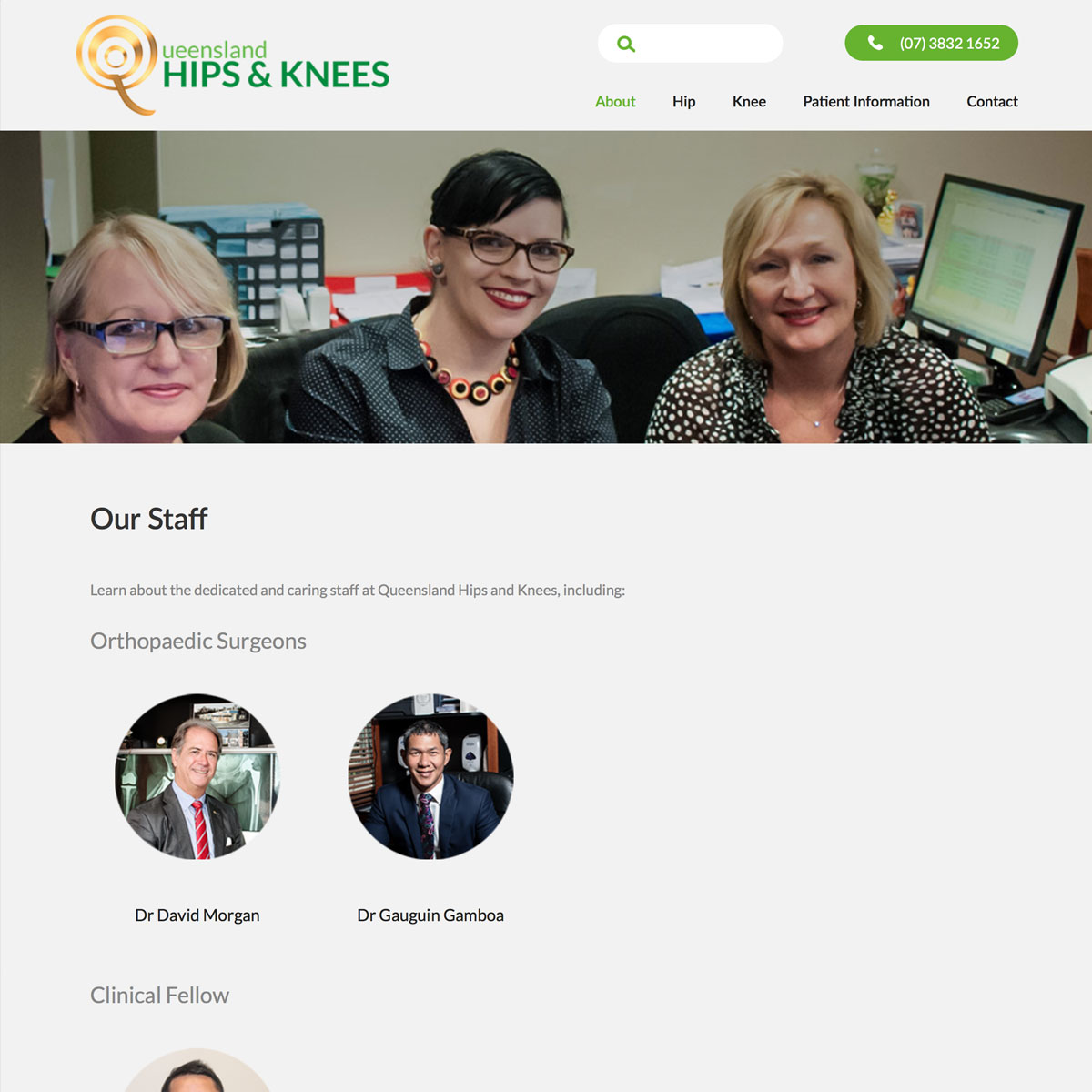 Queensland Hips and Knees - Our Staff