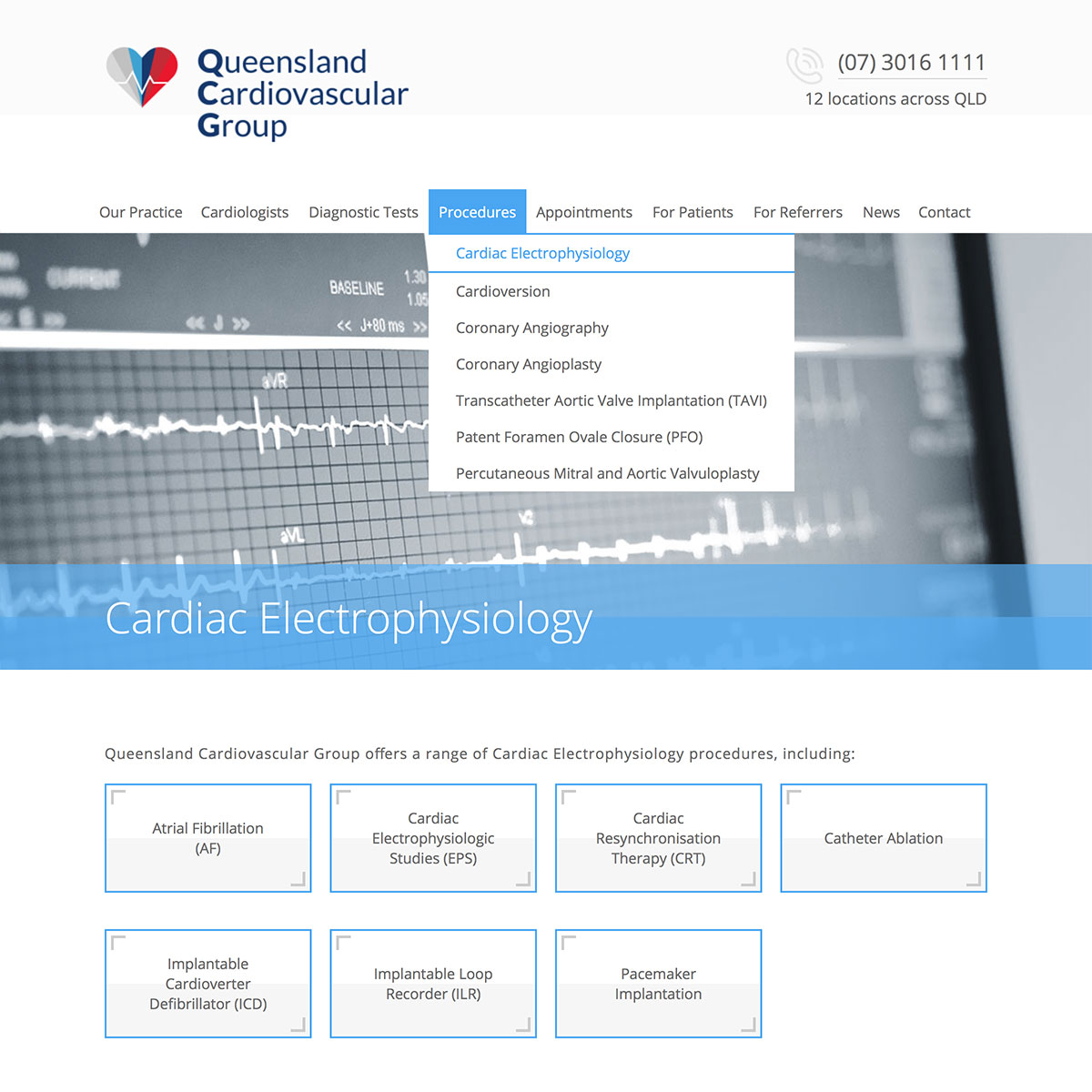 Queensland Cardiovascular Group - Procedure Index