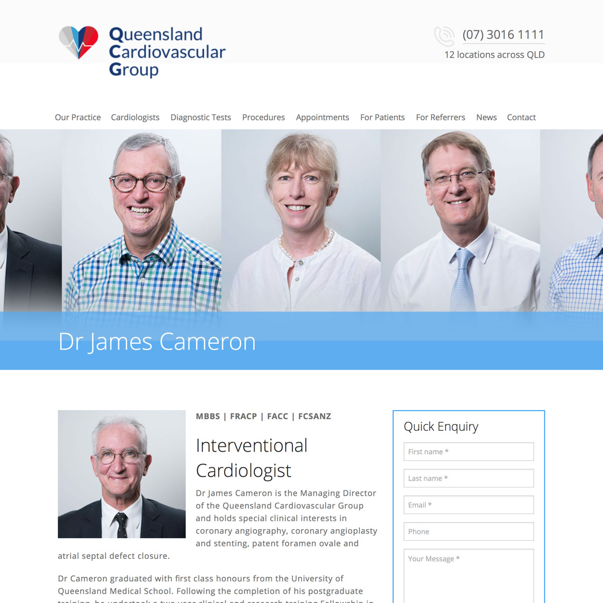 Queensland Cardiovascular Group - Cardiologist Bio