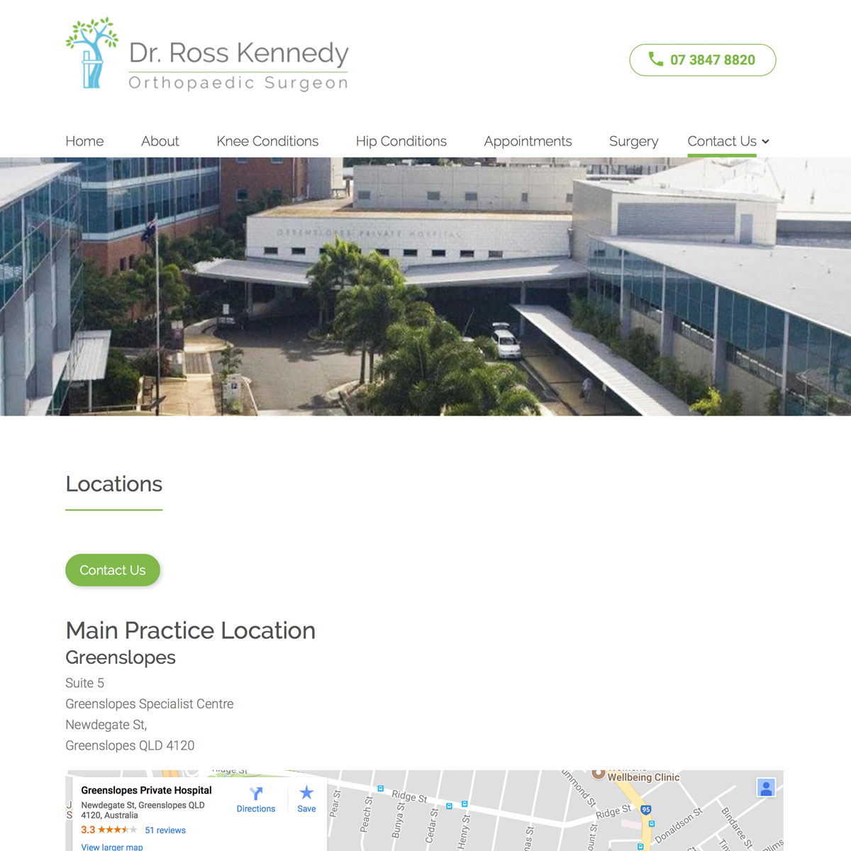 Dr Ross Kennedy - Locations