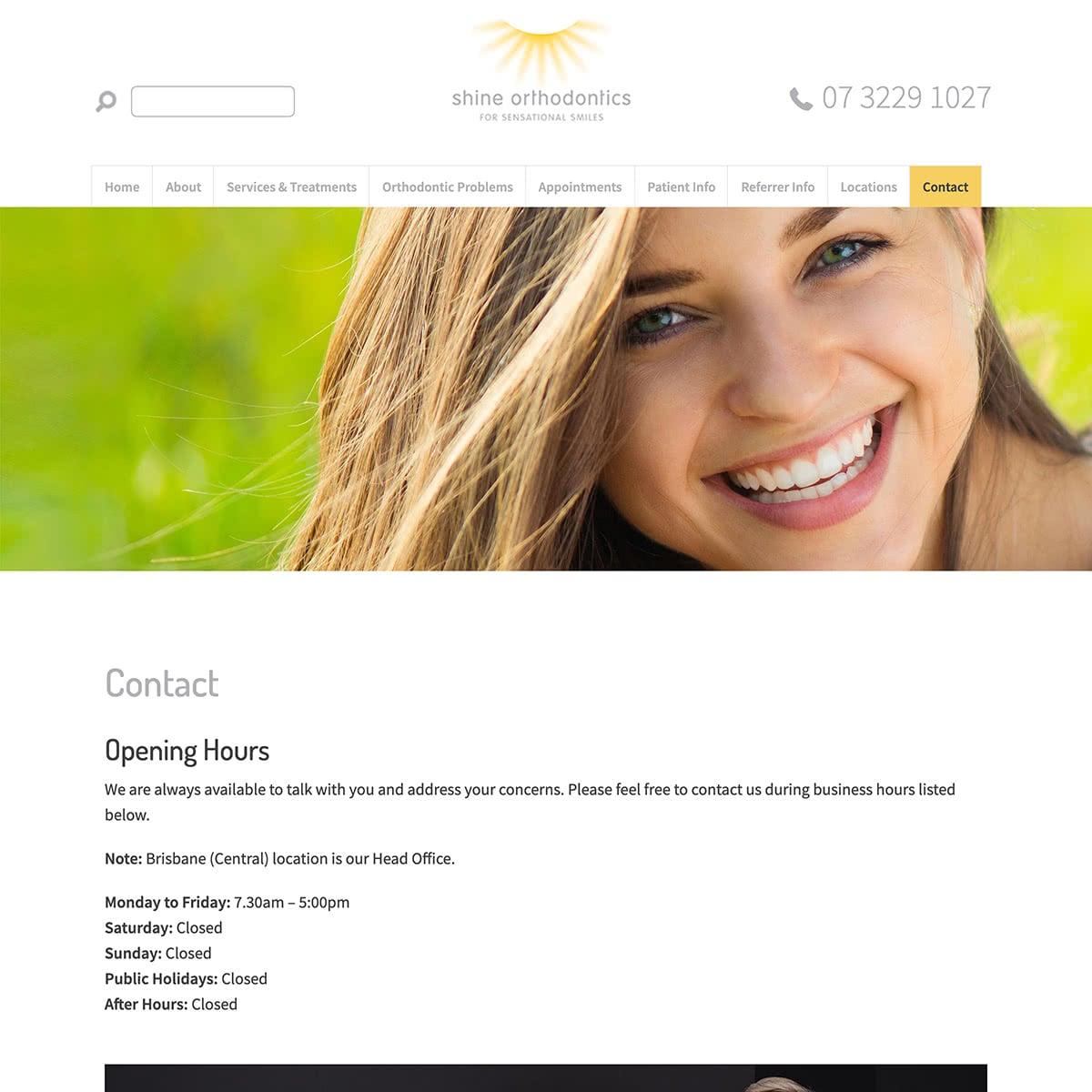 Shine Orthodontics - Contact