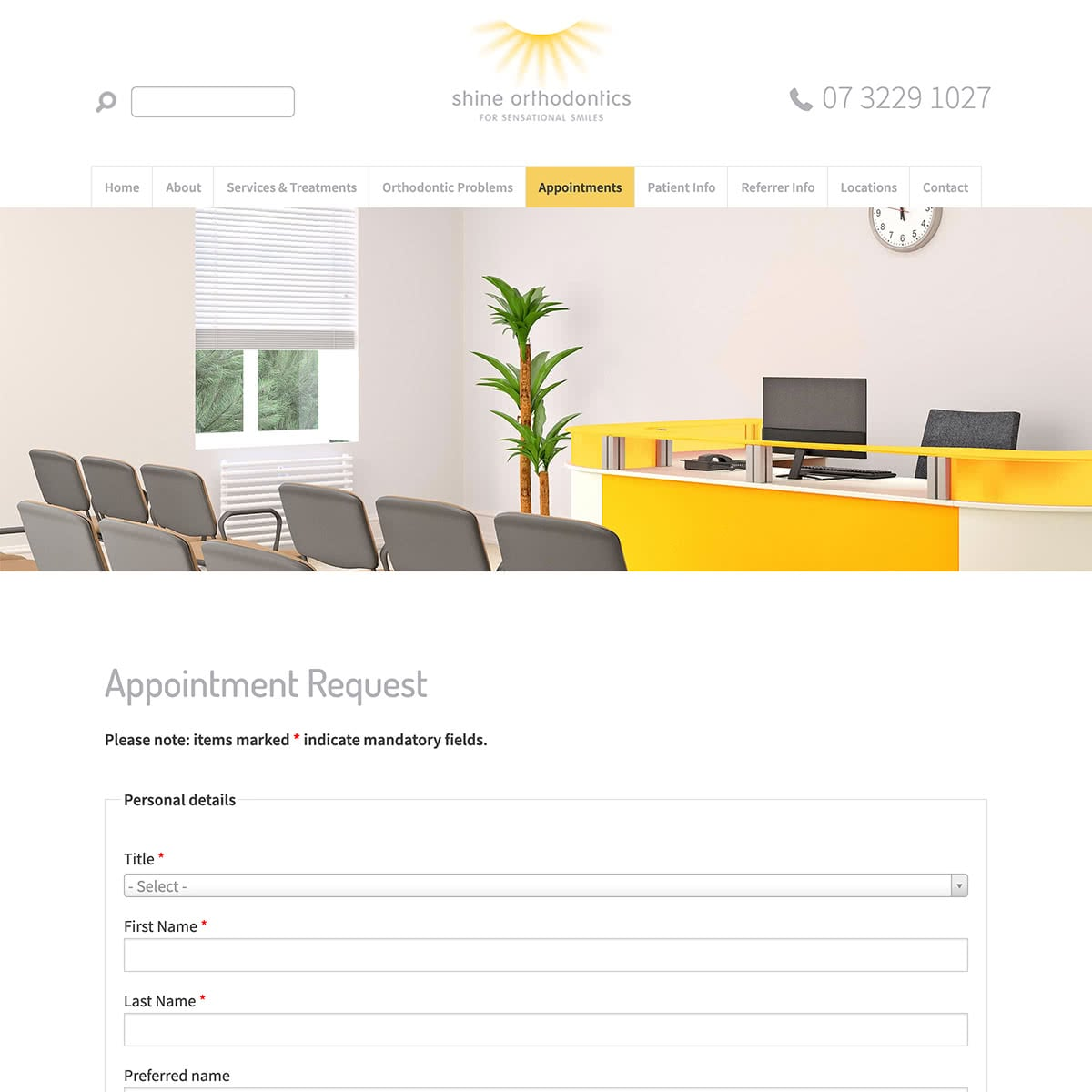 Shine Orthodontics - Appointments