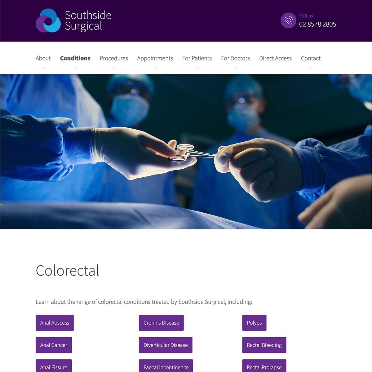 Southside Surgical - Conditions Index Page