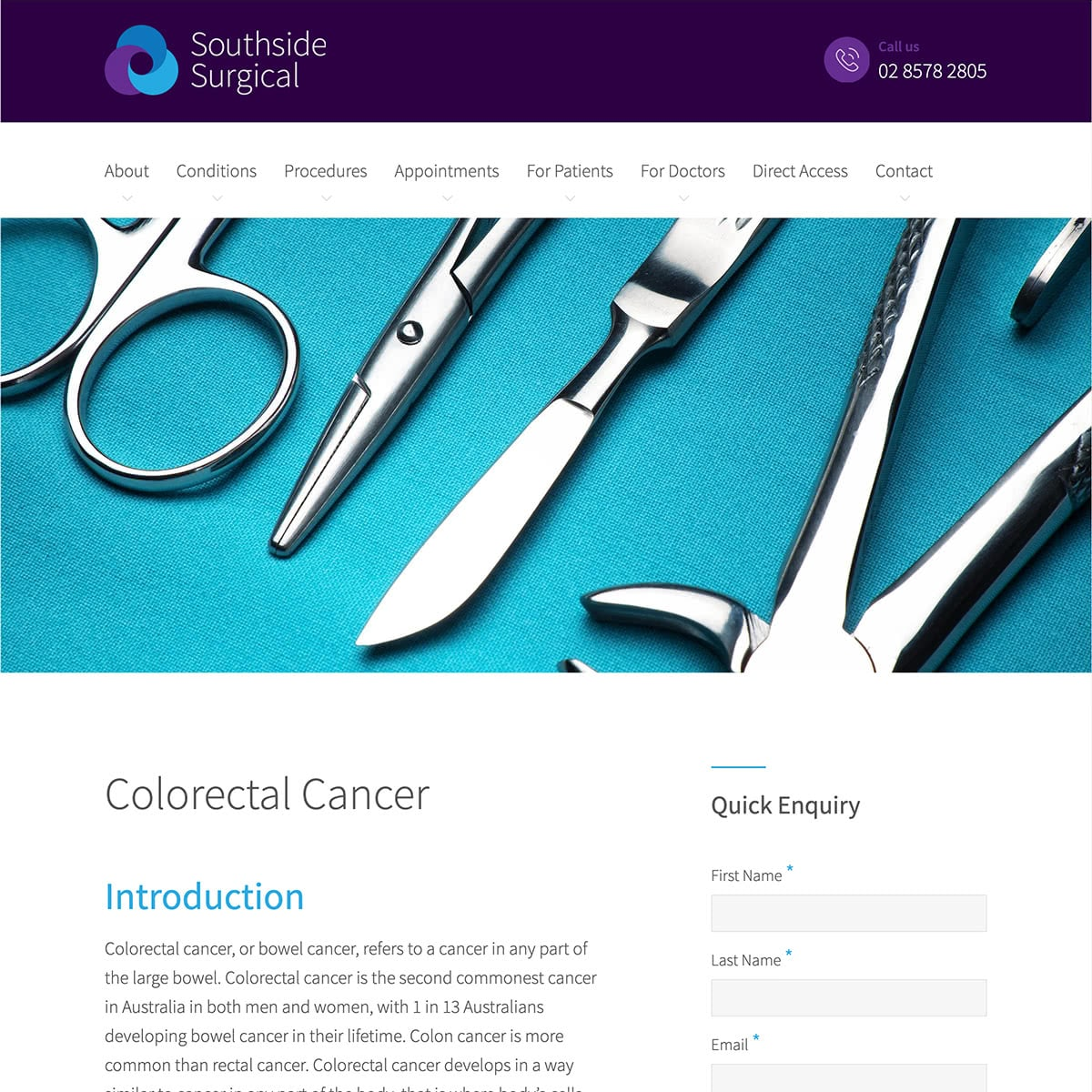 Southside Surgical - Conditions Page