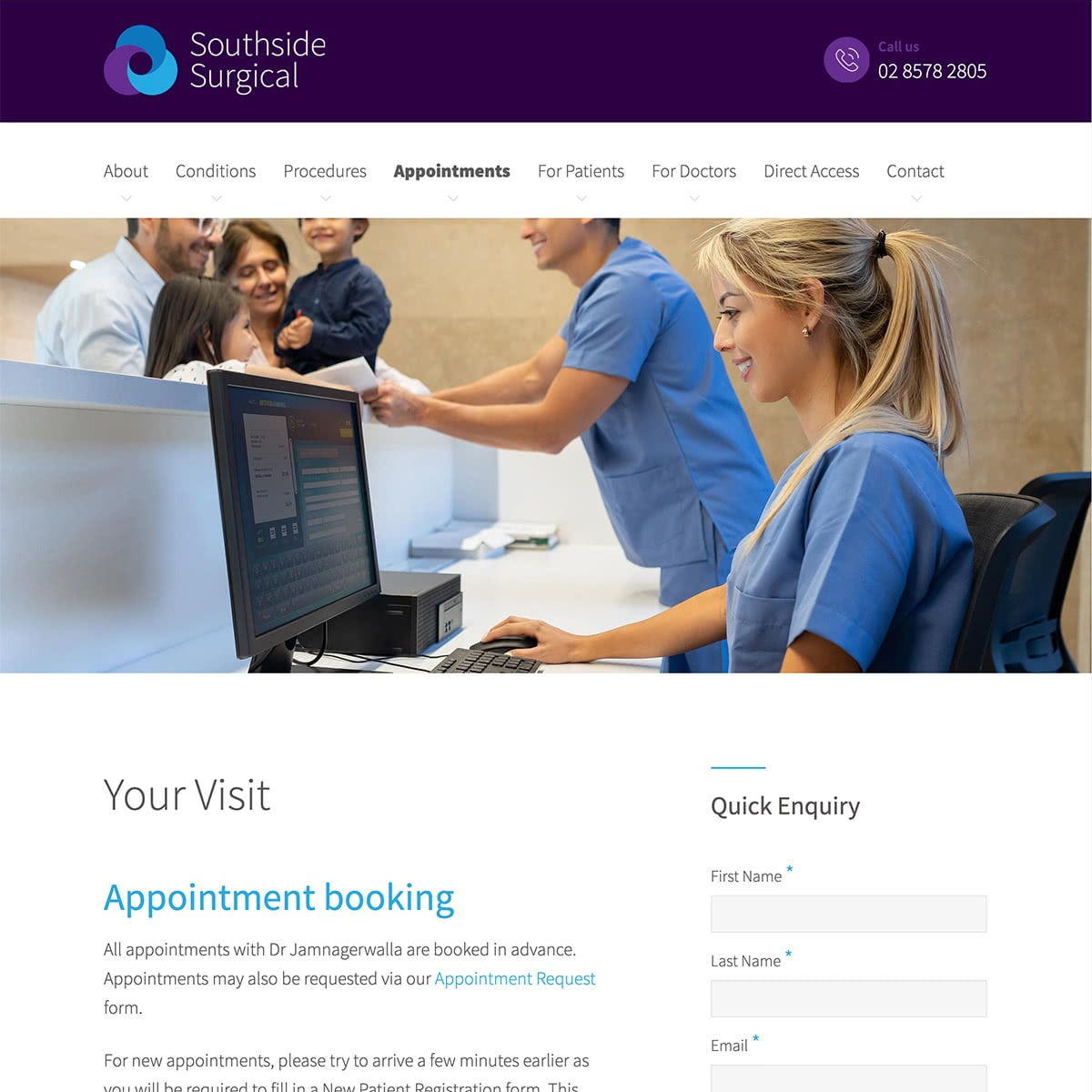 Southside Surgical - Appointments