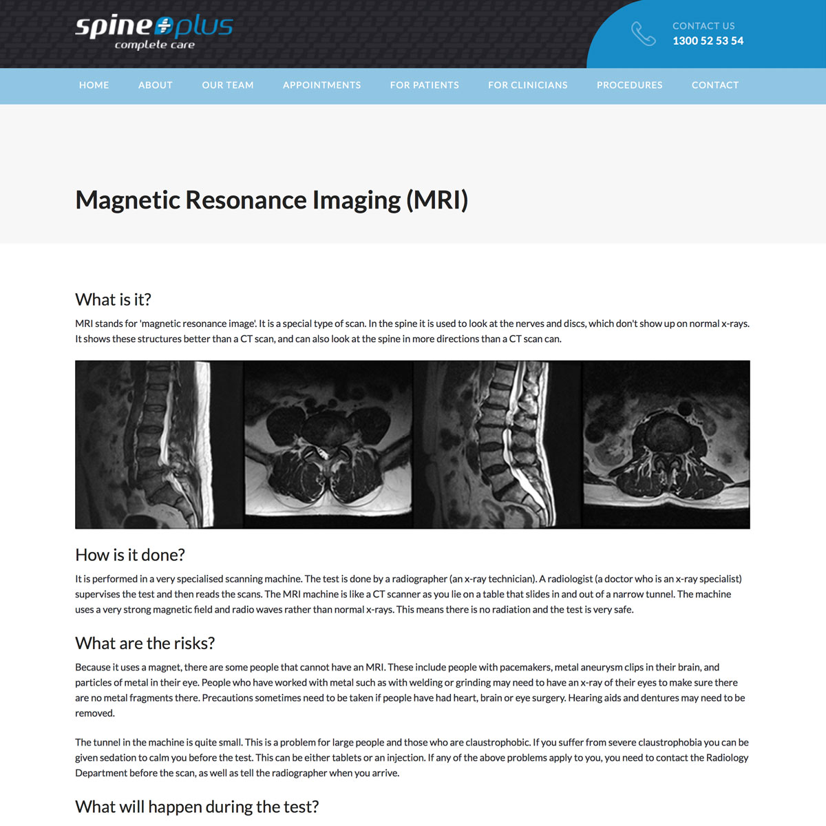 SpinePlus - Magnetic Imaging