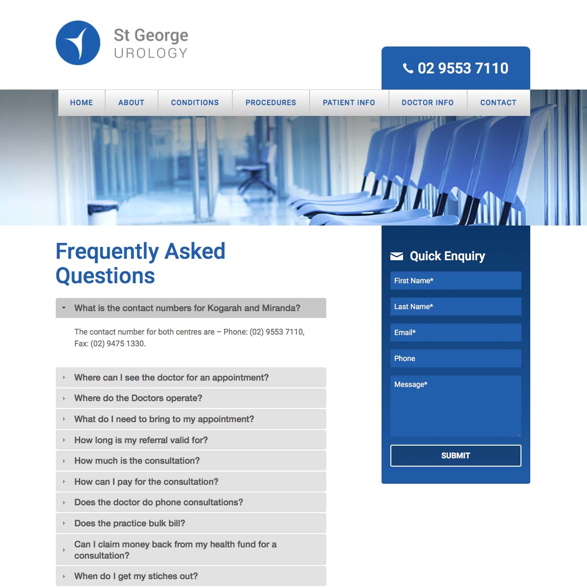 St George Urology FAQ