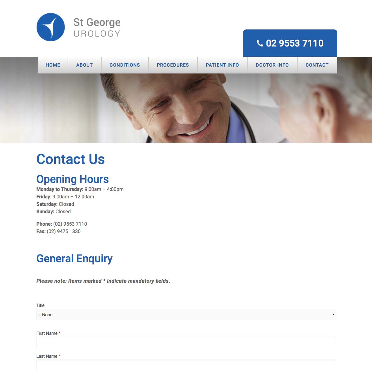 St George Urology Contact Us