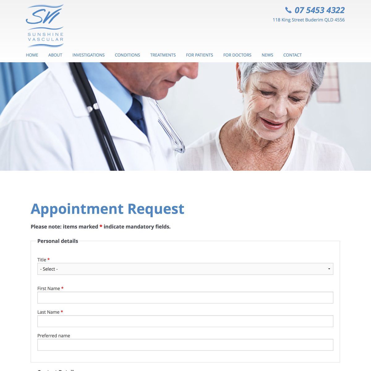Sunshine Vascular - Appointment Request Form