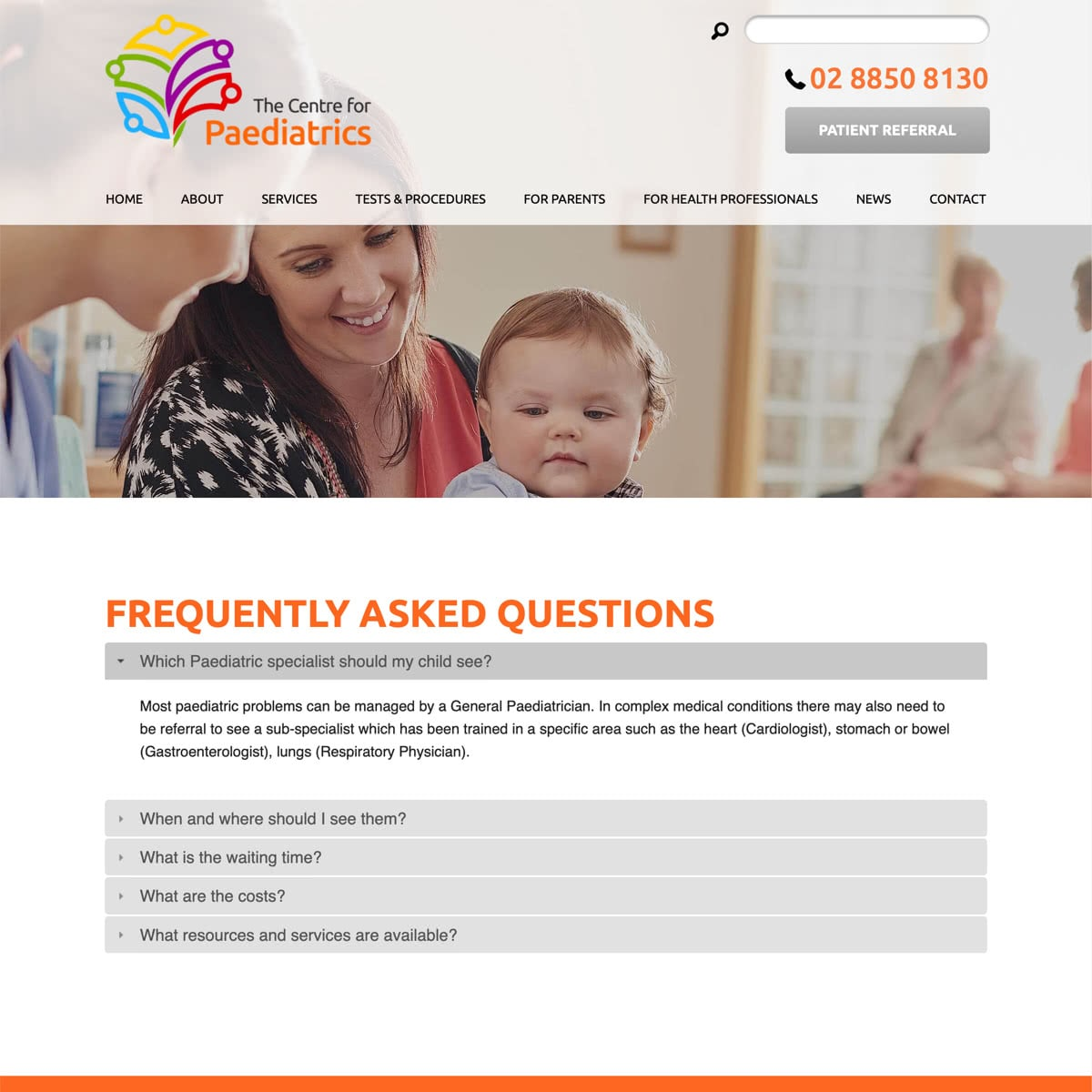 The Centre for Paediatrics - Frequently Asked Questions