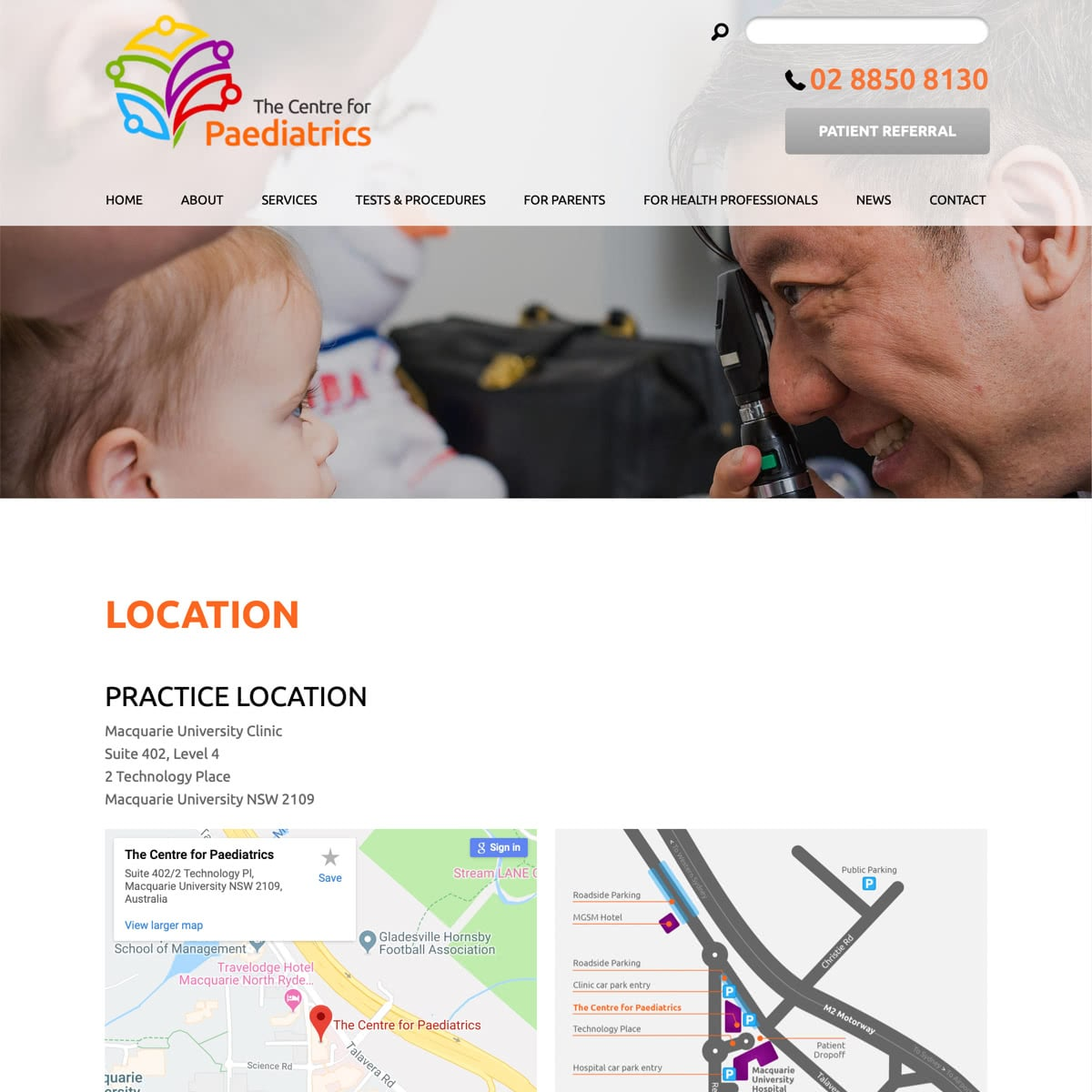 The Centre for Paediatrics - Location