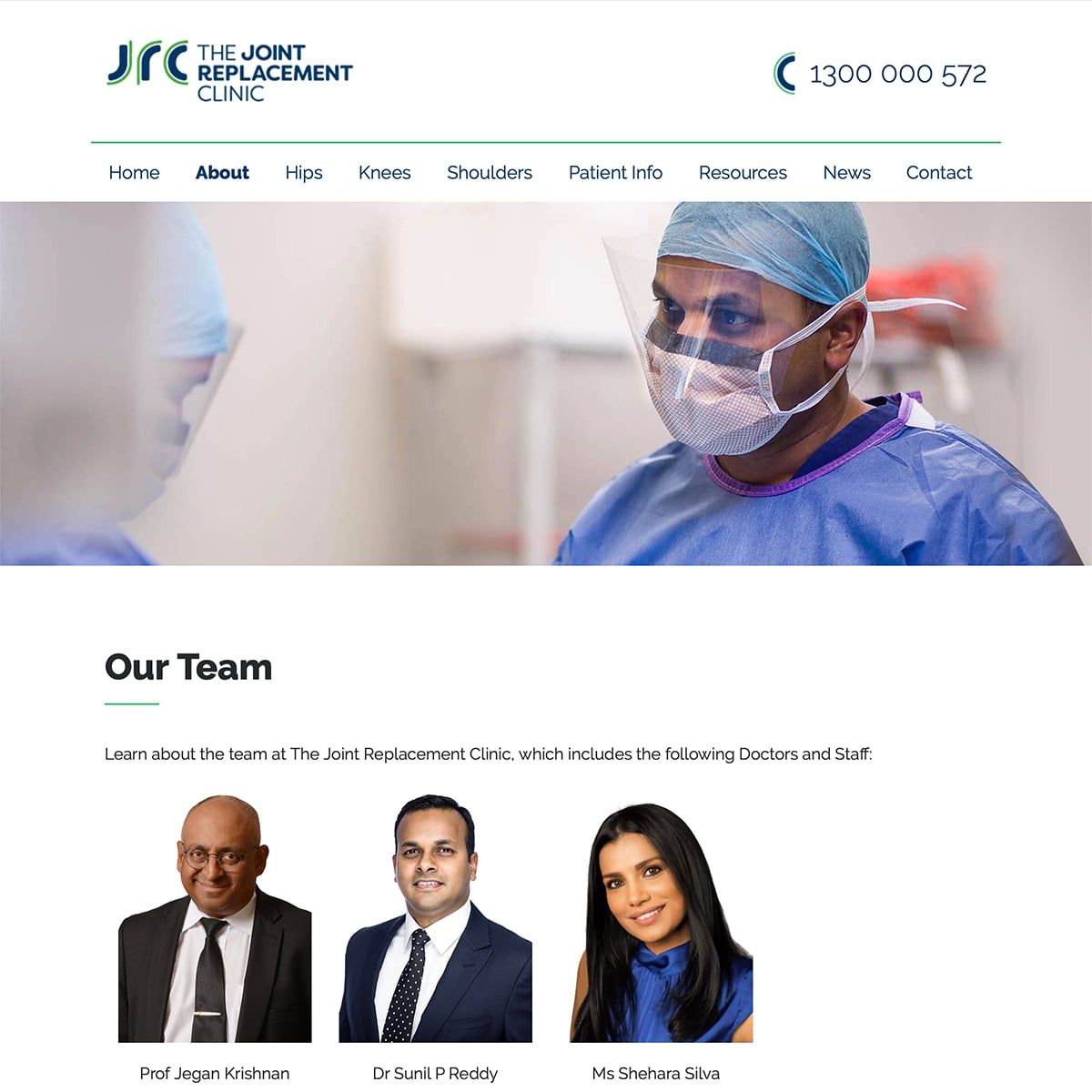 The Joint Replacement Clinic - About