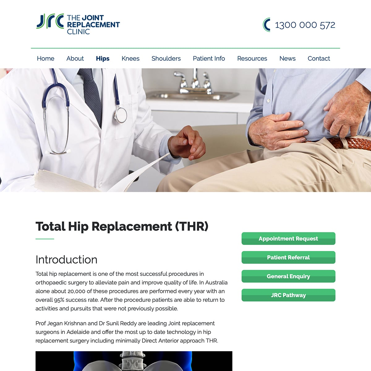 The Joint Replacement Clinic - Total Hip Replacement
