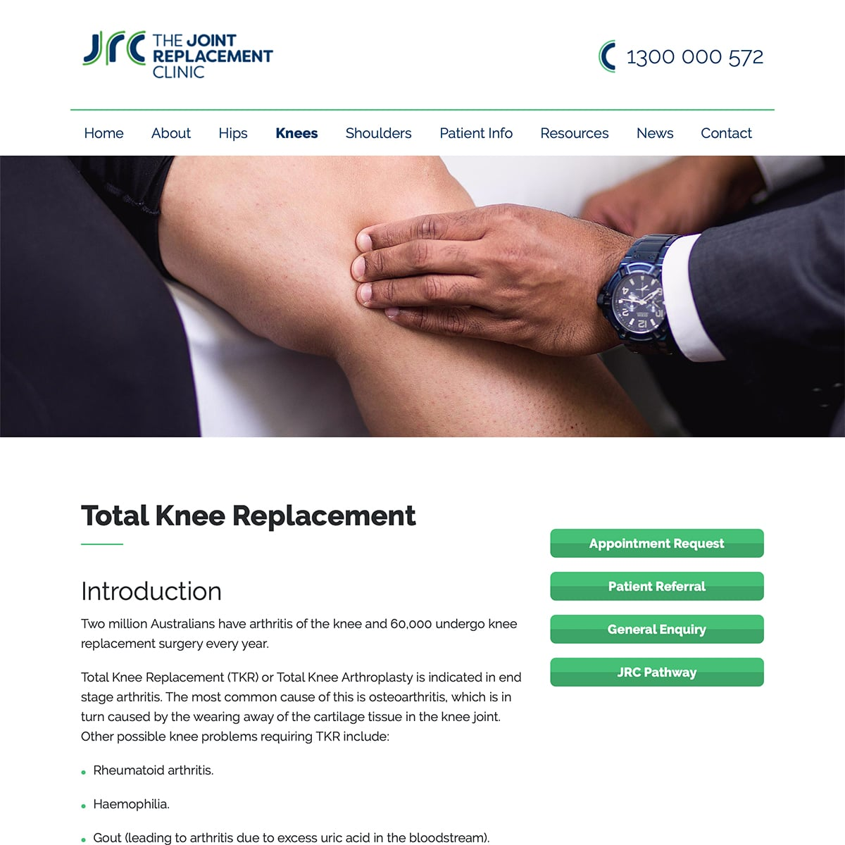 The Joint Replacement Clinic - Total Knee Replacement
