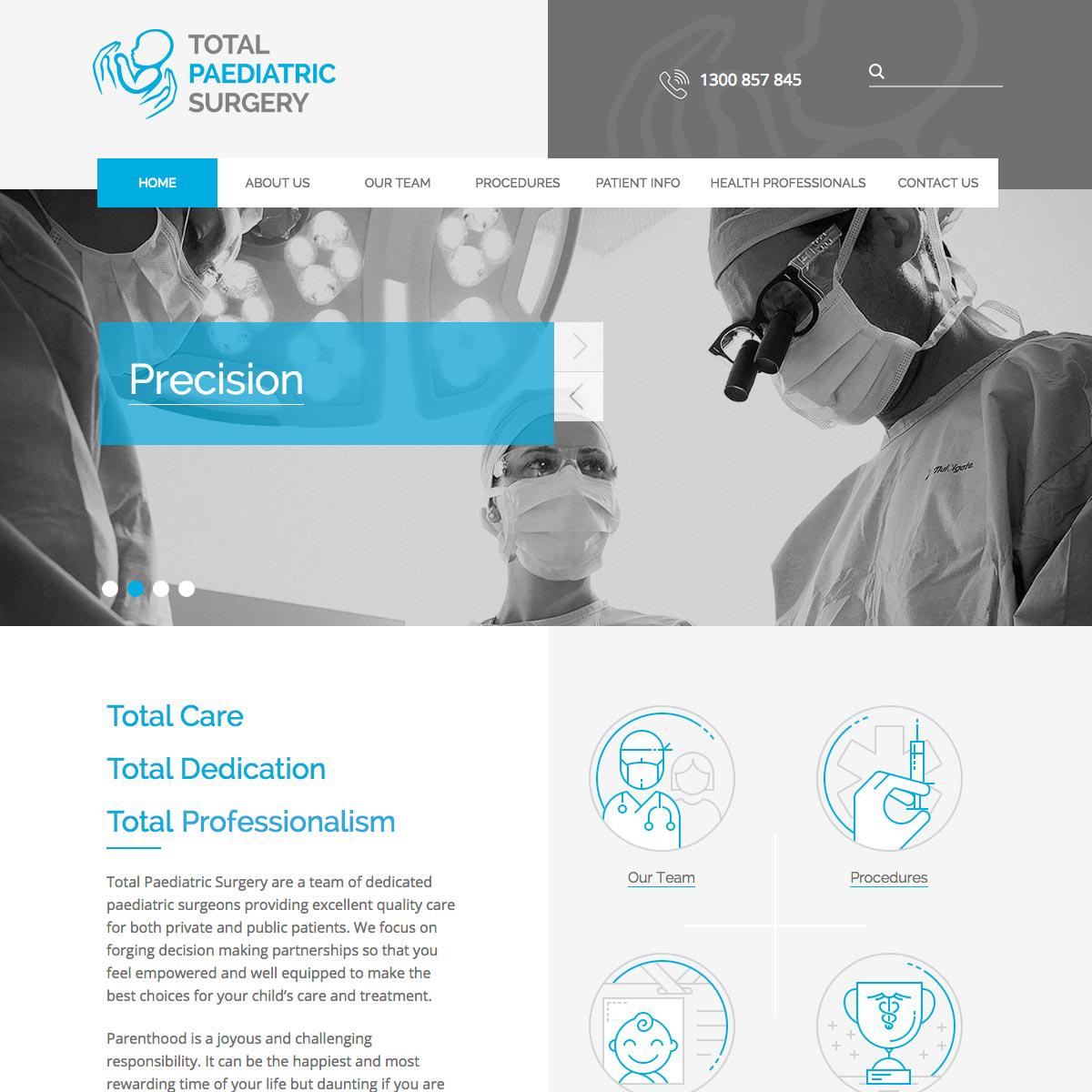 Total Paediatric Surgery Home