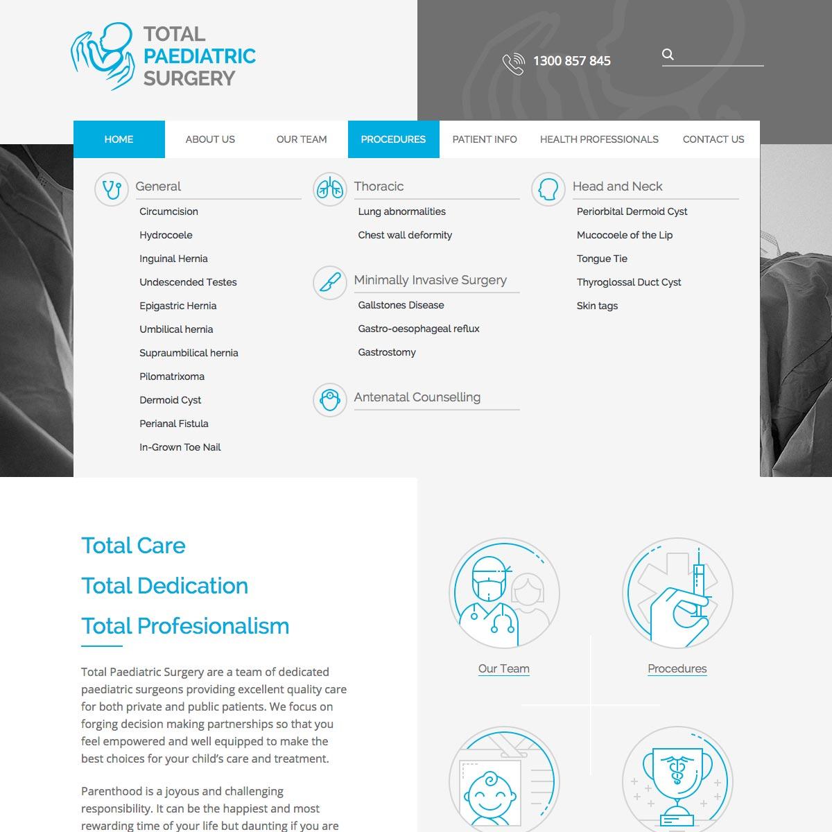 Total Paediatric Surgery Mega Menu