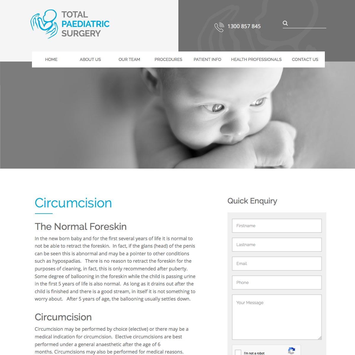 Total Paediatric Surgery Circumcision