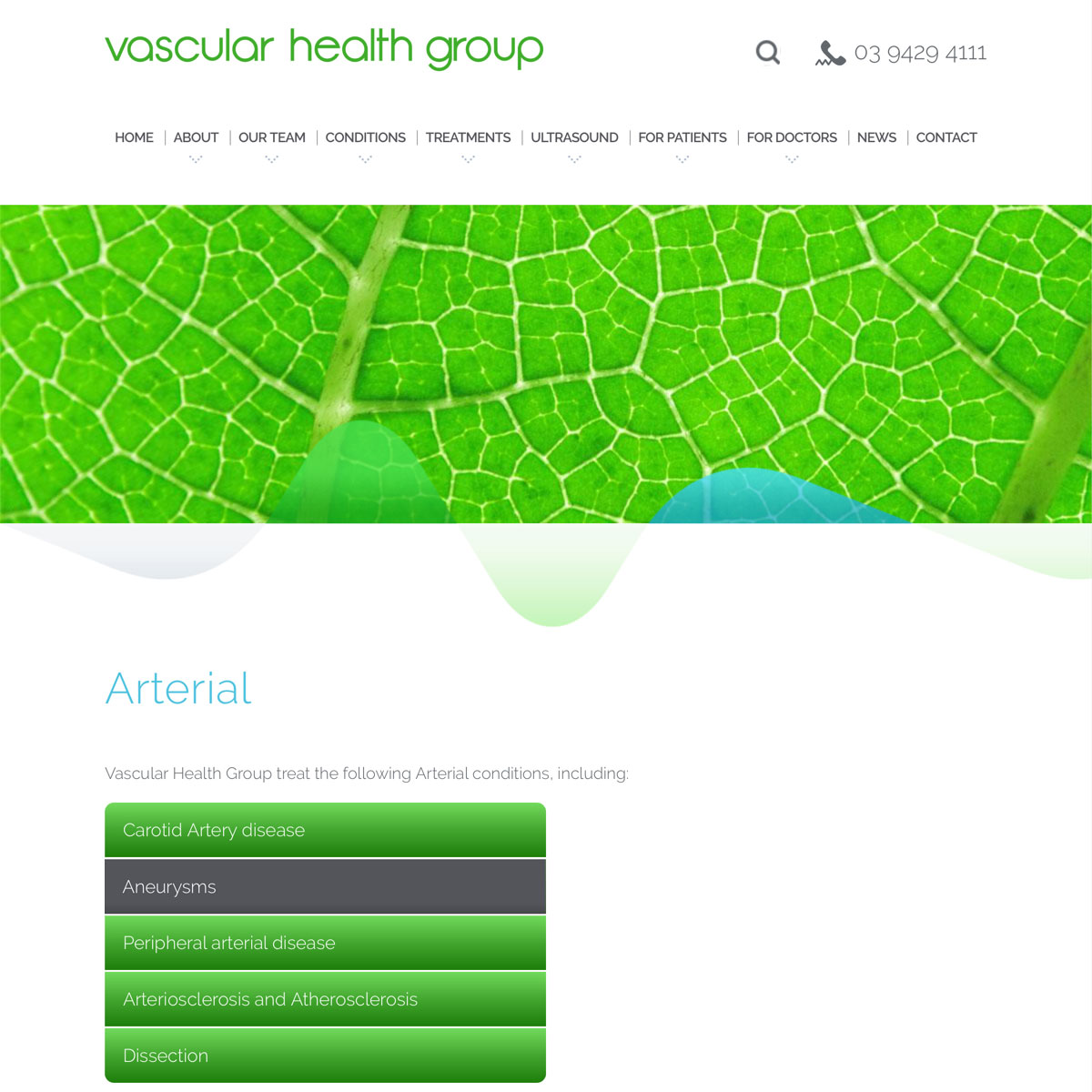 Vascular Health Group - Conditions Index