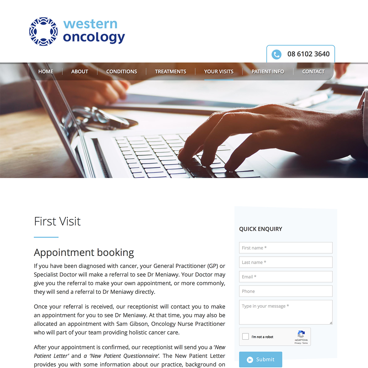 Western Oncology - First Visit