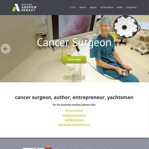 Dr Andrew Renaut - Homepage Banner - Cancer Surgeon
