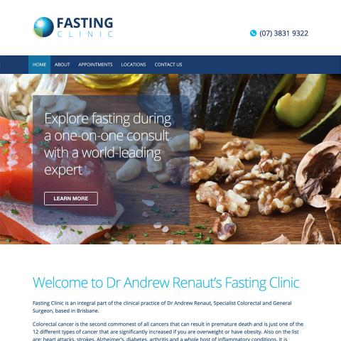 Fasting Clinic - Homepage Banners