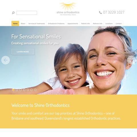 Shine Orthodontics - Homepage Banners