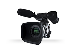 Image of production-quality video camera